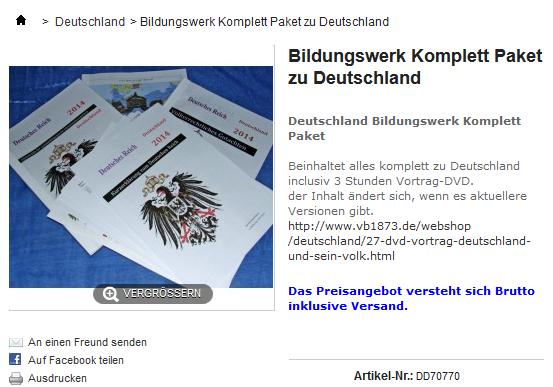 Bildungswerk Komplett Paket zu Deutschland